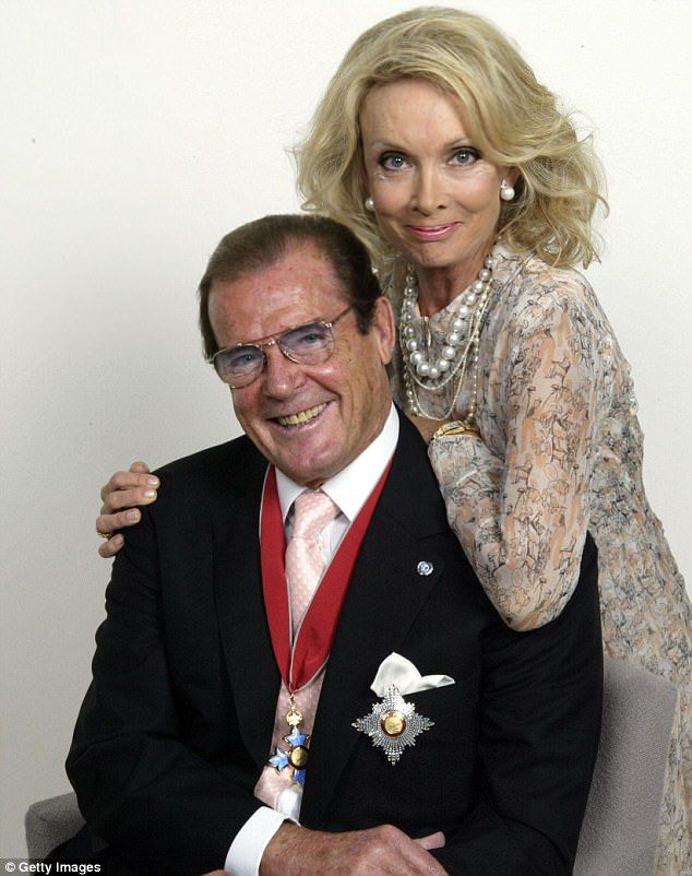 Sir Roger with his fourth wife, Swedish-born socialite Kristina 'Kiki' Tholstrup, with whom he lived in Monaco