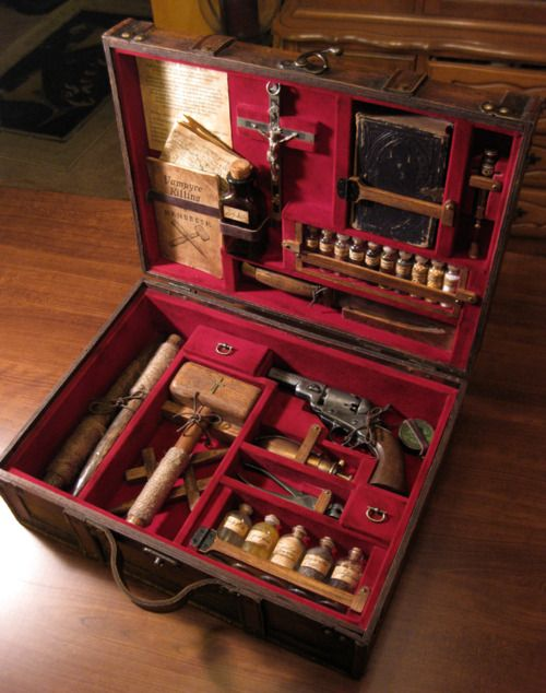 Vampire Hunter's Kit -- an antique curiosity I would love to own one day.