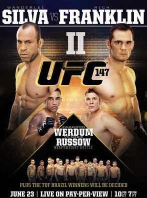 UFC 147 Official Fight Bill Poster - Brazil 6/23/2012 - Wanderlei Silva vs. Rich Franklin II - MMA