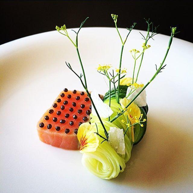 Salmon Confit.  By – @tadashi_takayama  ChefsOfInstagram repice