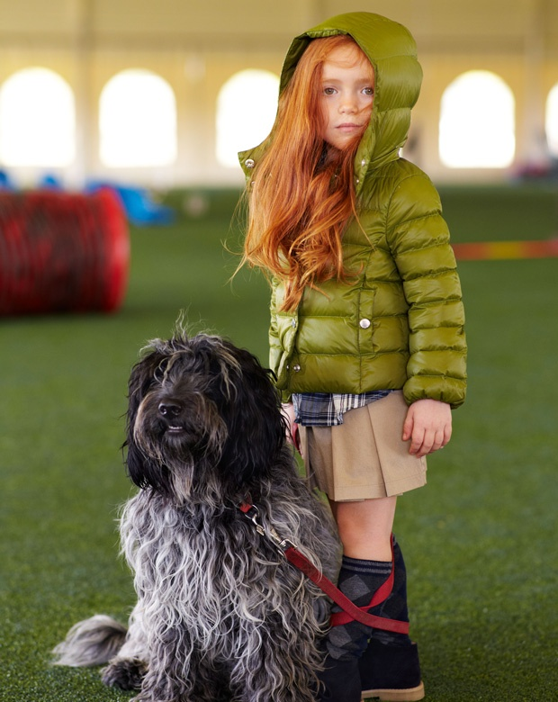 #Benetton #FW12 #Toddler the beautiful hair combines perfectly with the green jacket