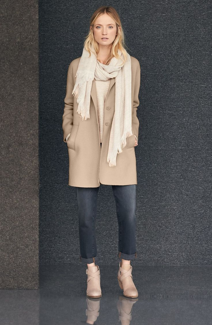 Eileen fisher ruched down jacket style dresses