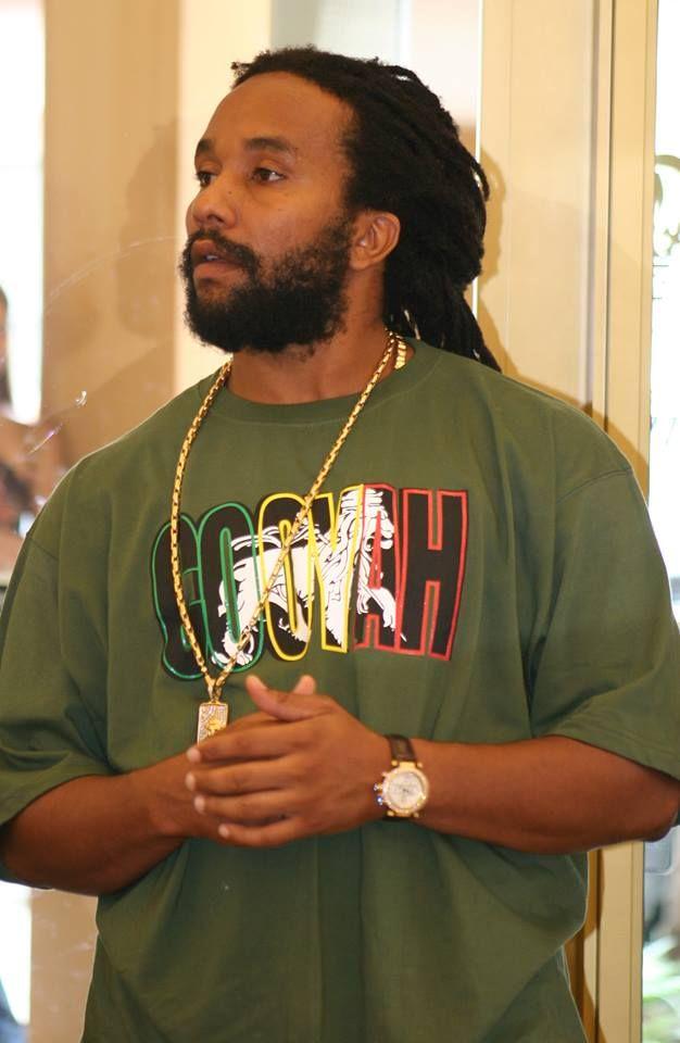 kymani marley wearing a cooyah reggae tshirt cooyahcom