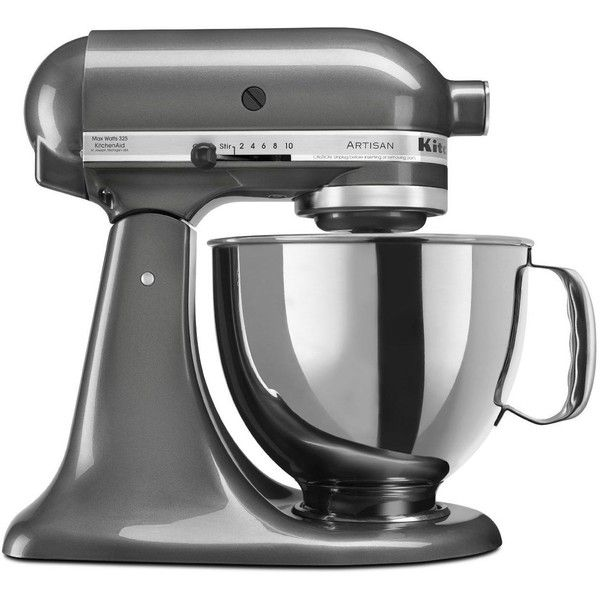 KitchenAid RRK150QG Liquid Graphite 5-quart Artisan Tilt Head Stand... ($226) ❤ liked on Polyvore featuring home, kitchen & dining, small appliances, kitchen aid standing mixer, kitchenaid small appliances, kitchen aid stand mixers, kitchenaid stand mixer and kitchen aid small appliances