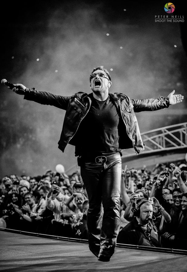 """Bono - BW version"" by Peter Neill"