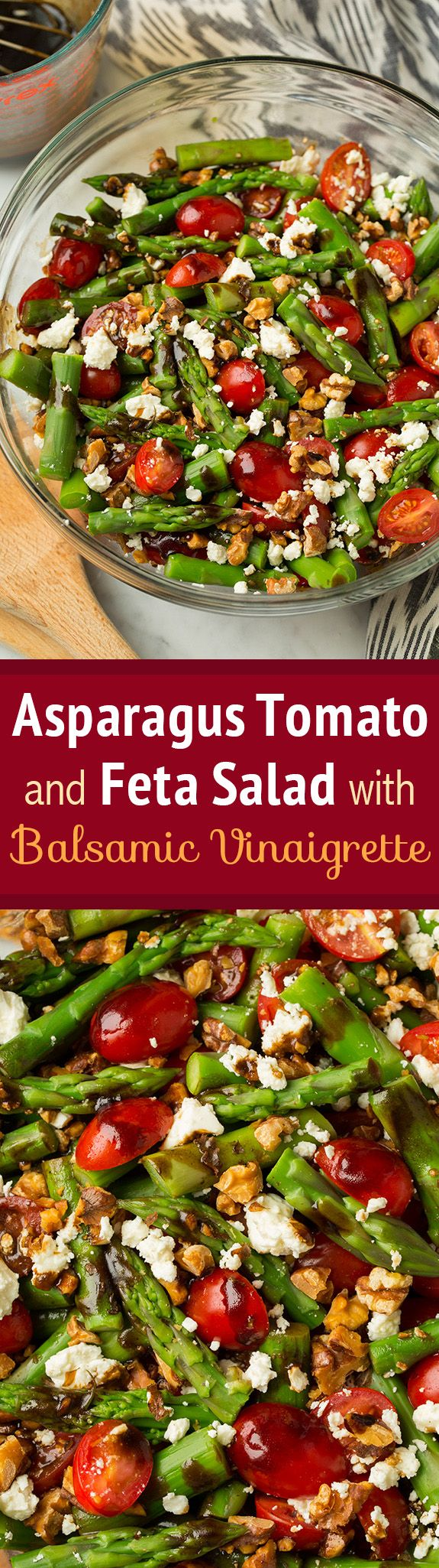 Asparagus, Tomato and Feta Salad with Balsamic Vinaigrette - Best spring salad!! Absolutely loved this as did everyone else!