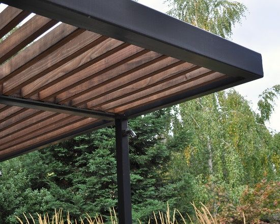 Modern pergola design pictures remodel decor and ideas for Metal sun shade structures