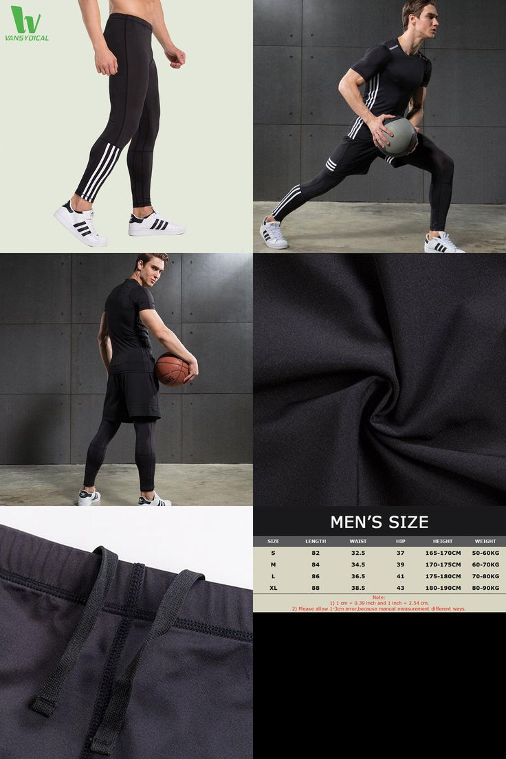 [Visit to Buy] VANSYDICAL Running Tights Men Compression Sports Leggings Fitness Men Running Tights Gym Clothing Basketball Training Sportswear #Advertisement