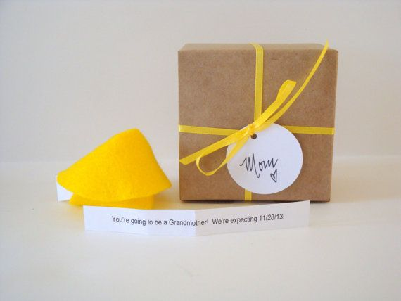 ONE 1 Felt Fortune cookie baby announcement pregnancy by Petite25, $5.50