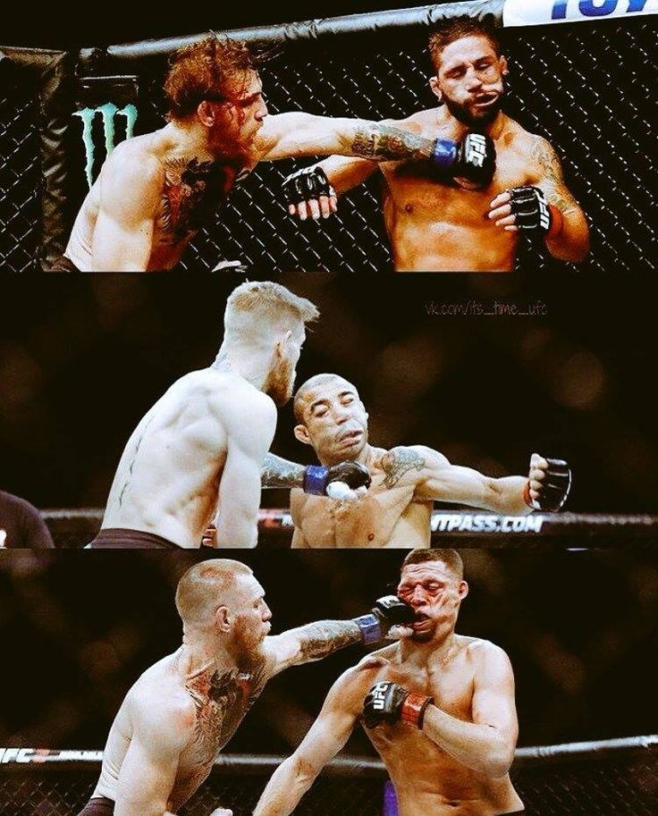 "Conor "" The Notorious "" McGregor's powerful jaw-breaking left hook punch."