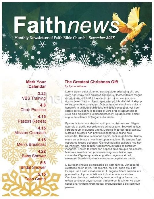 8 best Church Newsletters images on Pinterest Newsletter - newsletter sample templates