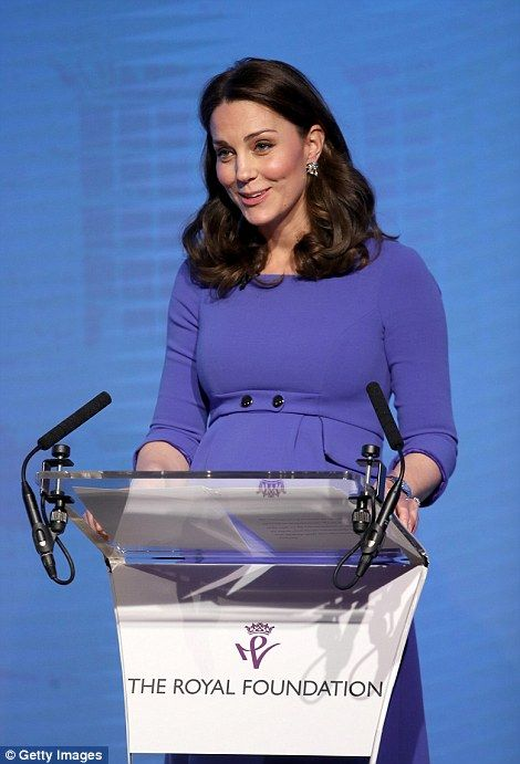 Kate, who is expecting her third child in April, told the audience at the Royal Foundation...