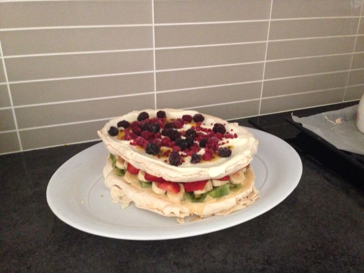 I've always had trouble making pavlova. I seem to have found the perfect recipe. It's combined a few recipes I found & also took on board a few tips I read. Preheat oven to 200 degrees while you whip your egg whites. Whip 6 egg whites to soft peaks. You need 1 1/4 cups of caster sugar & add it in 1 tablespoon at at time. Before baking add 1/2 teaspoon of white vinegar & 1 tablespoon of cornflour/tapioca. Immediately turn the oven down to 150 for 20 minutes, then to 100 for 1.5 hrs & finish…