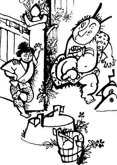 """The Adventures of Tarot in the country of mountains"" Illustrator Gennady Kalinovsky Author Miyoko Matsutani Country Soviet Union , Russia Year 1970"