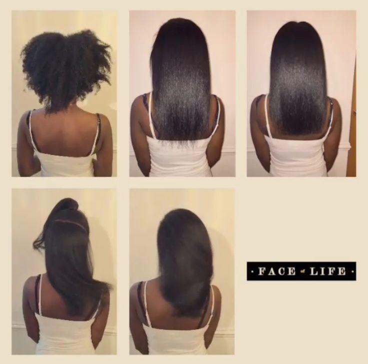 Silk Press And Trim Straightening Natural Hair