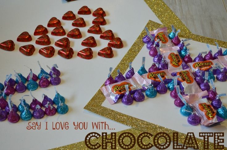 This Valentine's Day Say I Love You with Chocolate! This Valentine's Day don't just give your loved one's chocolate as a sign of your love instead give them a sign made of chocolate telling them about your love! #HSYMessageOfLove #ad