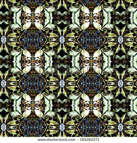 photographic pattern made out of dry green leaves