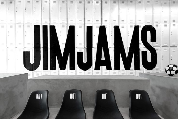 JimJams sports inspired clothing store. Design by www.anagrama.com