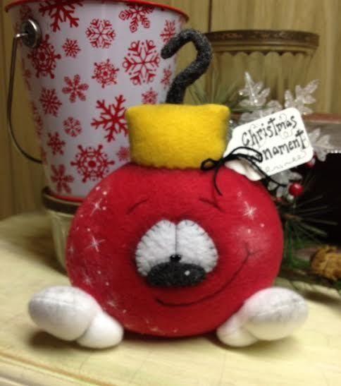 Primitive RagGeDY ChRiSTmaS OrnAMeNT BuLB SnoWMaN DoLL Shelf Sitter Bowl Filler #Christmas