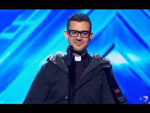 """JUST WOW!  Father Rob Galea """"Don't You Worry Child"""" - Auditions Week 1 - The X Fact..."""