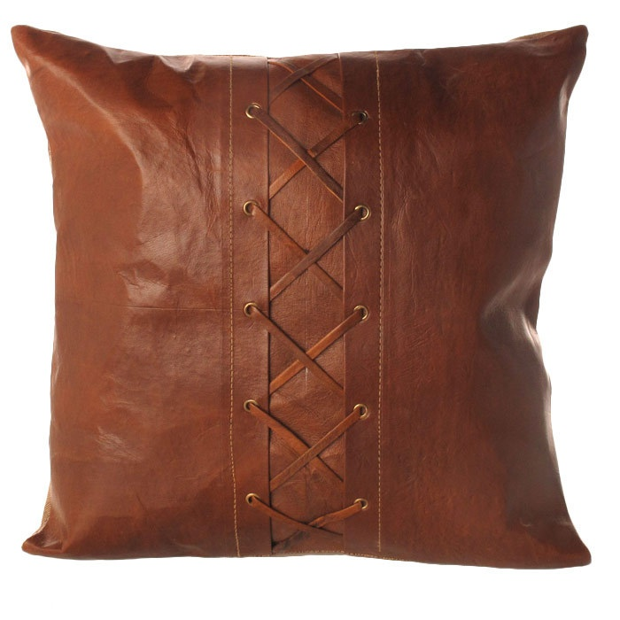 bonded cover decorative kitchen sham leather accent faux com cushion throw filling pillowcase insert pillows pillow acanva dp and home ac amazon with