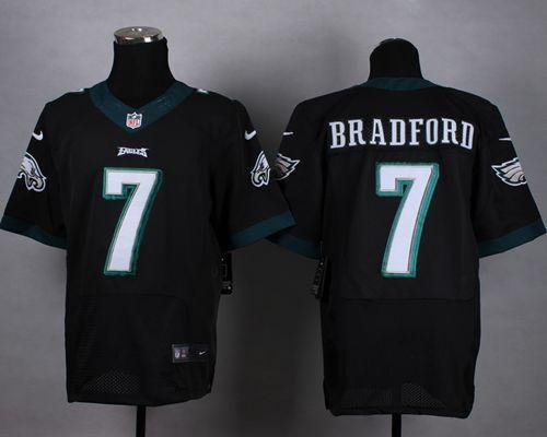 "$23.88 at ""MaryJersey""(maryjerseyelway@gmail.com) Nike Eagles 7 Sam Bradford Black Alternate Men Stitched NFL New Elite Jersey"