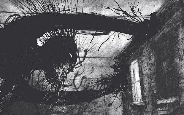 A Monster Calls by Patrick Ness, Illustrated (beautifully yet disturbingly) by Jim Kay Totalement mes cauchemars.