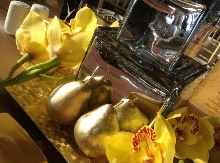 mayan theme event décor gold