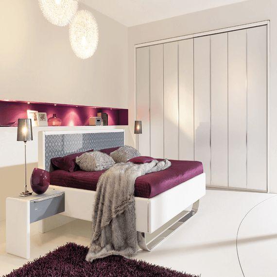 Schlafzimmer Design Farben #16: Schlafzimmer Design Farben Lila