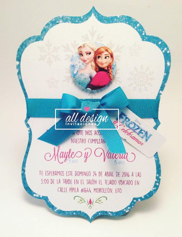 Invitación frozen