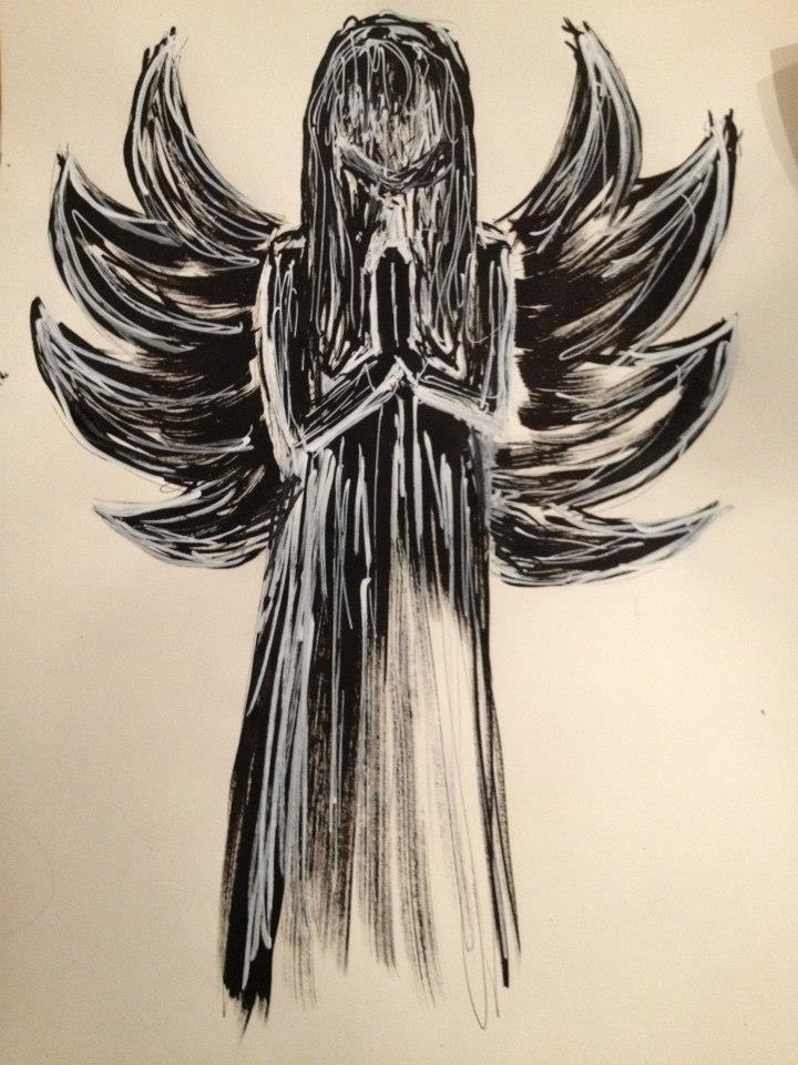 Army of angels  ink on paper