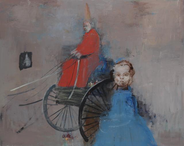 Alexander Bobkin - Blue Girl 100 x 130 cm