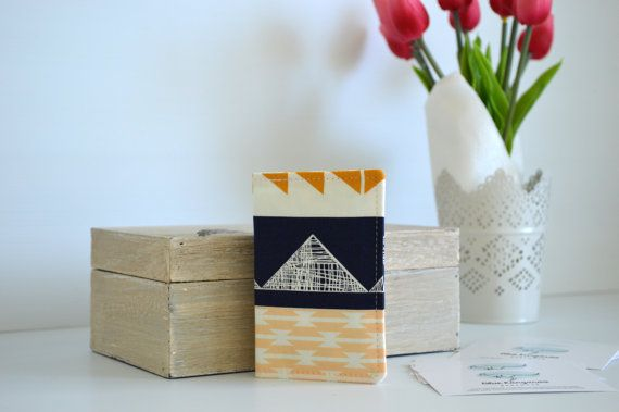 Business card wallet coffee cards wallet by BlueKangarooHandmade