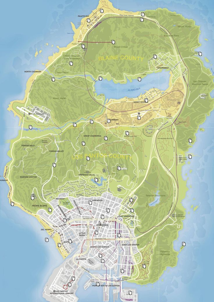 Gta  Letter Scraps Locations Map