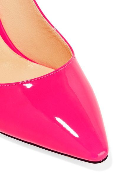 Jimmy Choo - Romy Patent-leather Pumps - Bright pink - IT39.5