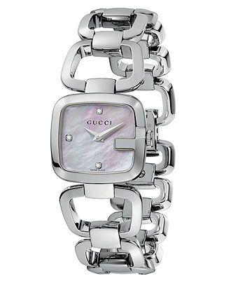 Gucci Watch, Women's Swiss Stainless Steel Bracelet 25mm YA125502 - Gucci - Jewelry & Watches - Macy's
