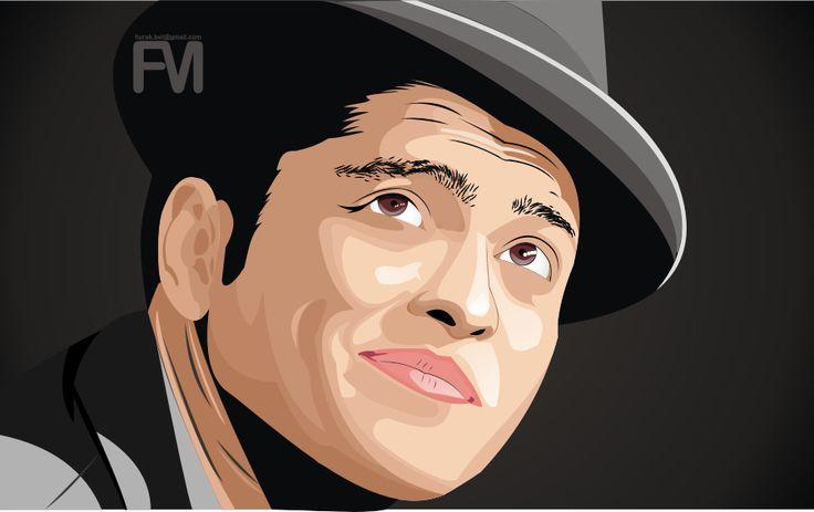 vektor wajah,,   #Bruno Mars