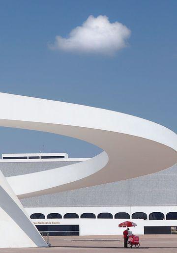National Museum in Brasilia by Oscar Niemeyer