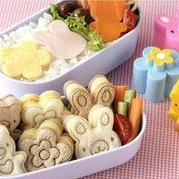 3PCS Sandwich Crust Cutter Cookie Bread Mold Rabbit Panda Flower Bento Maker New JCB 100% Brand new