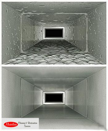 Air duct cleaning, before and after http://www.mundae.com/our-services/air-duct-cleaning