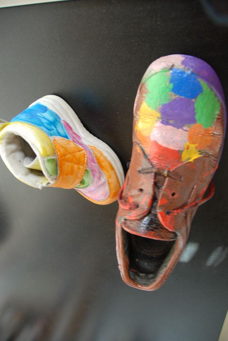 schoenen schilderen