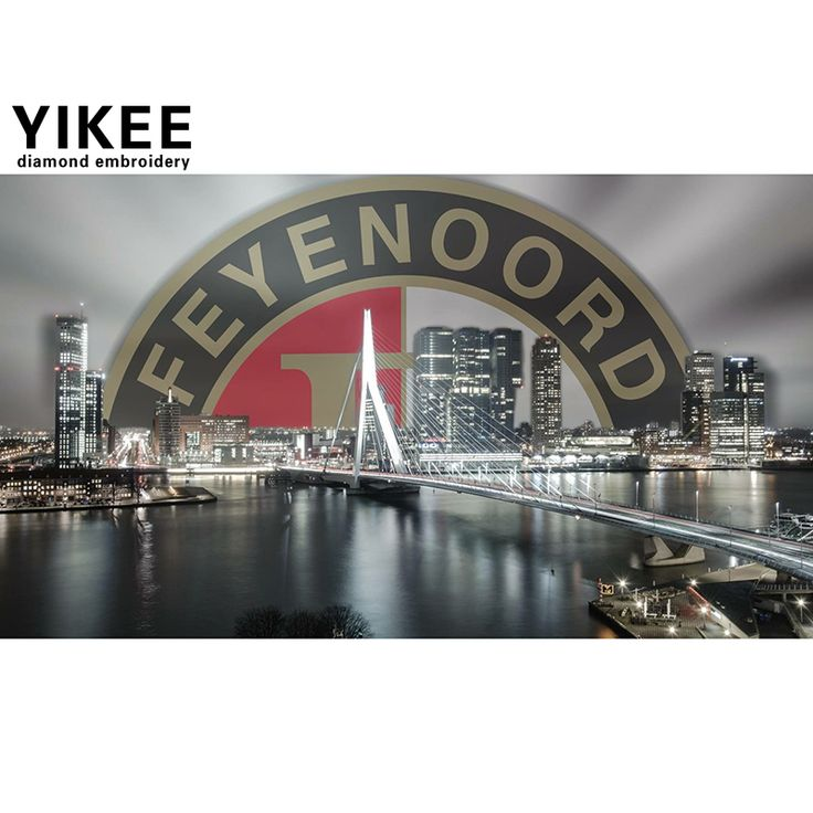 H341 diy diamond painting feyenoord,full square,diamond embroidery Cross Stitch,diy,diamond embroidery Rotterdam skyline -in Diamond Painting Cross Stitch from Home & Garden on Aliexpress.com | Alibaba Group