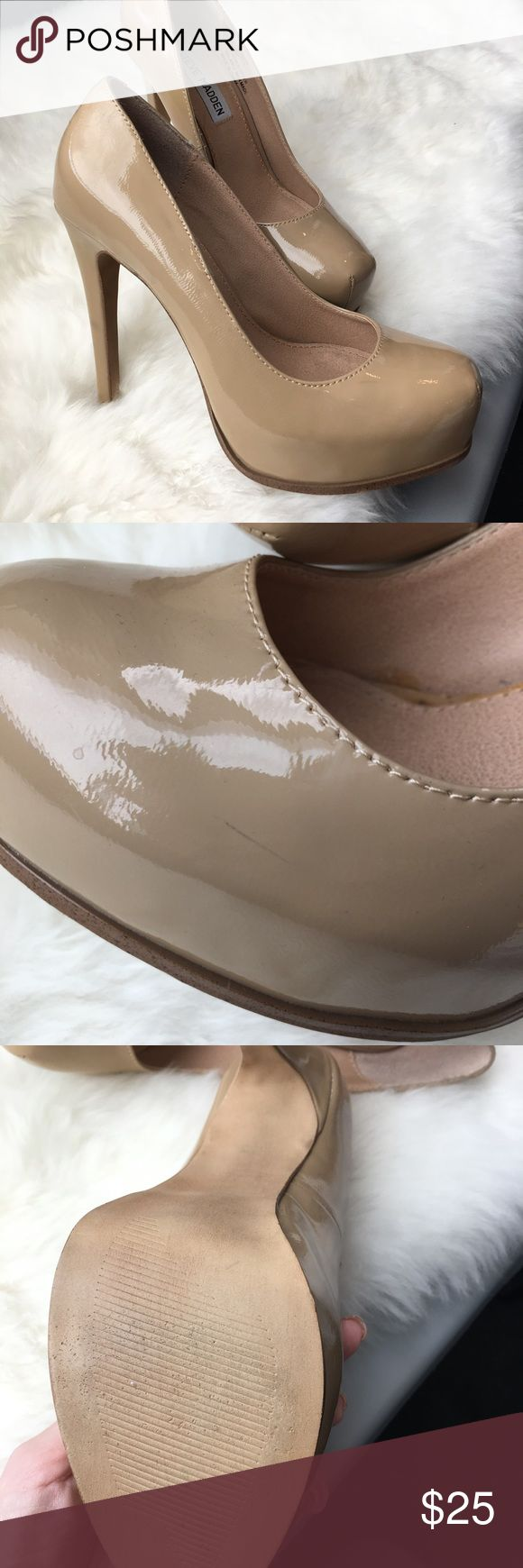Steve Madden Nude Pumps Nude Steve Madden Pumps size 5.5. Worn only twice but has a few wear marks as seen in photos 🌙✨ Steve Madden Shoes Heels