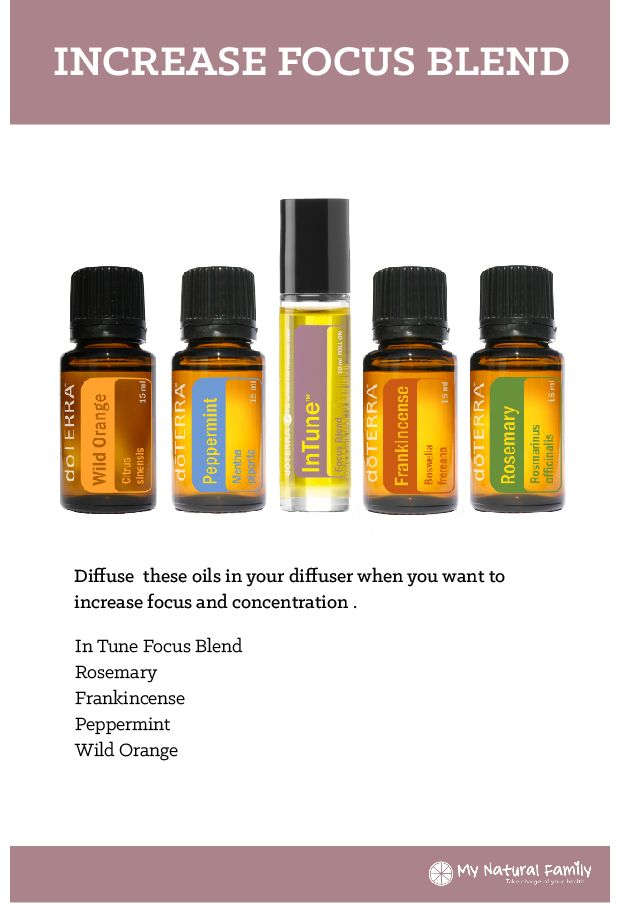 doTERRA Increase Focus Blend Recipe