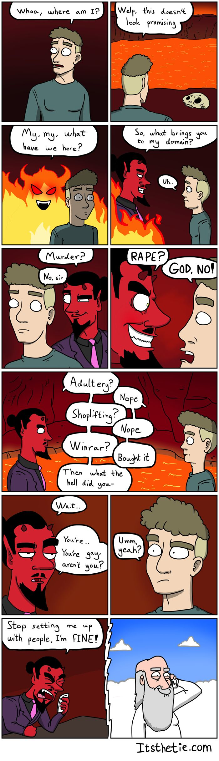 Going to Hell #funny #lol RePin if you liked this!