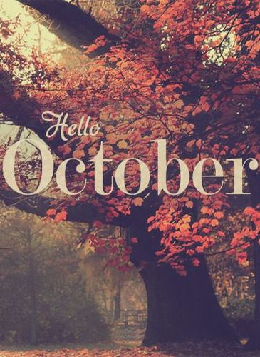 I love October. mine and my husbands birthday month, the month we started dating, the month are baby boy is due, the prettiest month of the year, &pumpkin everything is out <3