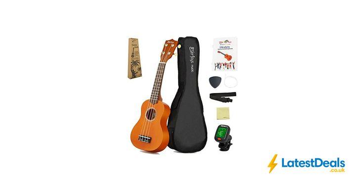 Soprano Ukulele Beginner Kit - 21 Inch W/ Carrying Bag + Free Delivery, £32.99 at Amazon UK