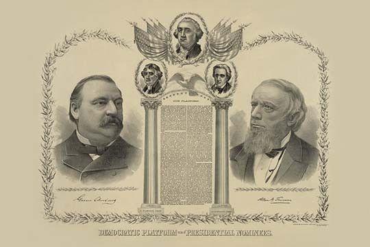 Democratic platform and presidential nominees