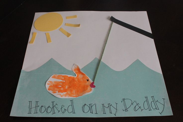 Fish card for kids.  Dad Birthday Craft or Father's Day.