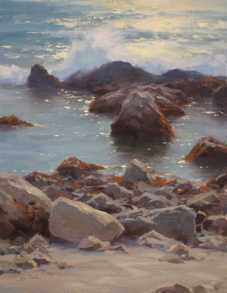 Jesse Powell knows how to show the dynamic nature of the ocean. TIDE POOLS http://www.summitfineart.net/#/jesse-powell/